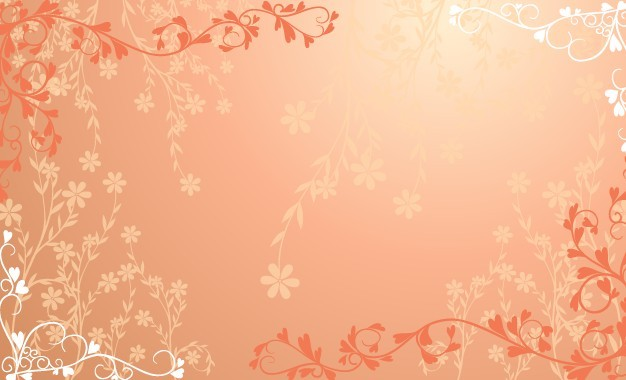 Free Red Floral Wedding Background Vector Titanui