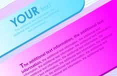3D Colored Paper Text Labels Vector 01