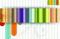 Glossy Color Stripes Background Vector