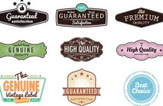 Set Of Vintage Styled Vector Stickers 02