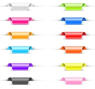 12+ Colored Web Corner Labels Vector