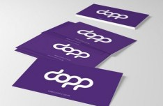 Fashion Purple Business Card PSD Mockup