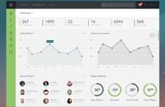 Fashion Web Dashboard Interface PSD