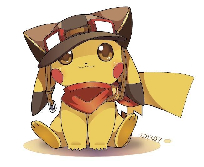 Cute Cartoon Pikachu Illustration Vector