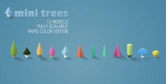 12 Mini Tree Models PSD