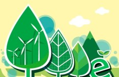 Vector Illustration of Green Energy Concept For Environmental Protection 04