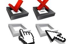3D Checkboxes Designs Vector