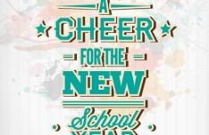 Happy New School Year Vector Illustration 01
