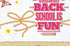 Vector Illustration Of Welcome Students Back to School 01