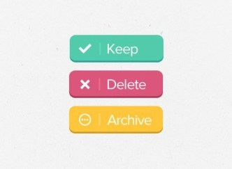 3 Colors Flat Web Button Templates PSD