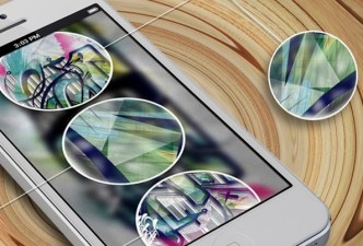 White iPhone 5 Mockup PSD