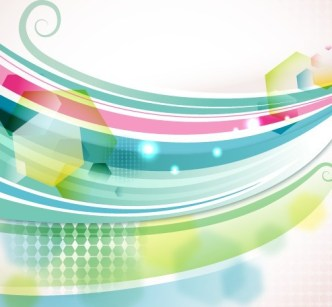 Blue and Green Abstract Vector Background 01