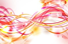 Colored & Curved Abstract Lines Background Vector 01