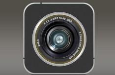 Dark Vintage Camera Icon PSD