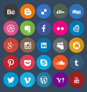 Geekly - 40+ Flat Styled Web Icons