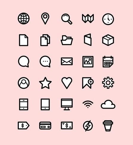Simplicon Icon Set PSD
