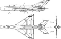 Vector MiG-21 Fighter Aircraft Perspective