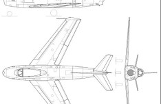 Vector North American F-86A Fighter Aircraft Perspective