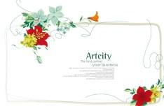 Beautiful Flower Corner Decorative Background Vector 03