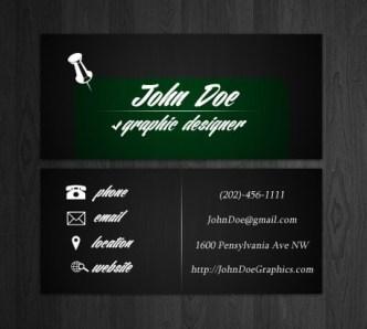 Minimal Dark Business Card Template PSD