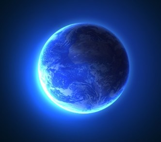 One Layer Style Blue Planet Earth