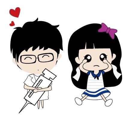 Vector Illustration of Cute Cartoon Boy and Girl