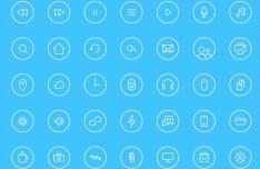 Circular Line Web Icons Pack PSD