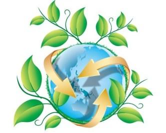 Blue Planet Green Earth Concept Illustration Vector 01