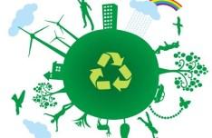 Blue Planet Green Earth Concept Illustration Vector 03