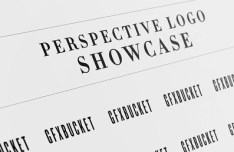 Perspective Logo Showcase Mockup PSD