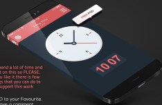 iPhone 6 Concept Clock Widget PSD (Retina Ready)
