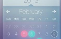 Flat Calendar Widget For Mobile