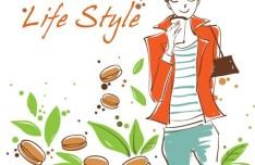 Vector Illustration Of Fashion City Girl Life Style 02