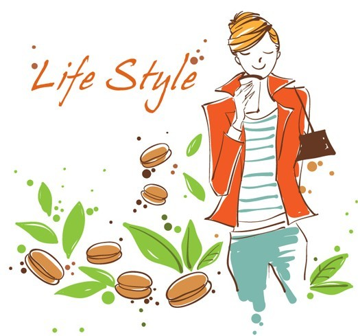 Vector Illustration Of Fashion City Girl Life Style 02