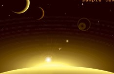 Vector Outer Space Background 03