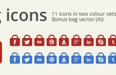 11+ Bag Social Media Icons PSD
