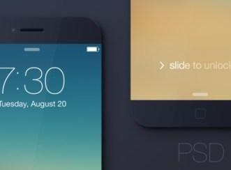 Black iPhone 6 Mockup Template PSD