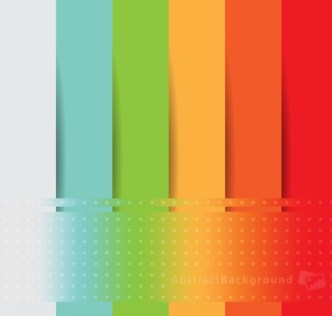 Colored Abstract Paper Stripes Background Vector
