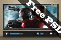 HD Black Video Player PSD