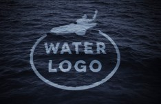 Sink into the Ocean Logo Mockup PSD