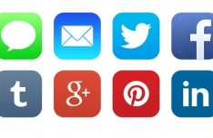 iOS 7 Native Social Icons PSD