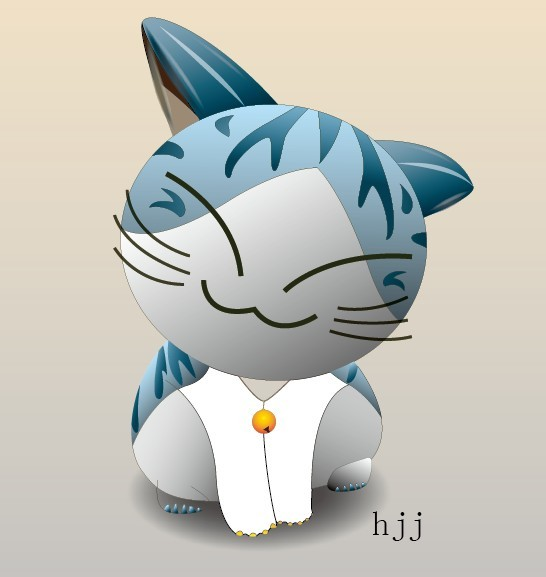 Cute 3D Cartoon Cat Vector 02