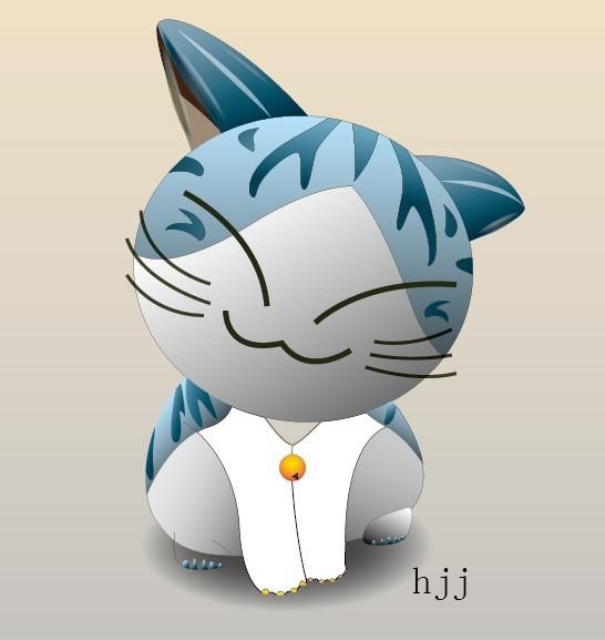 Cute 3D Cartoon Cat Vector 02