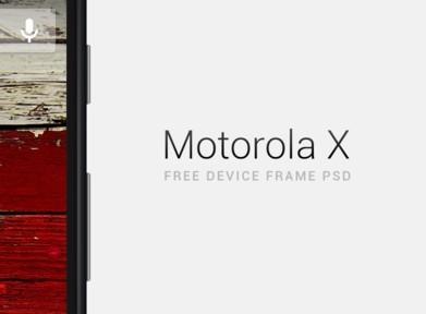 Motorola Moto X Device Frame PSD