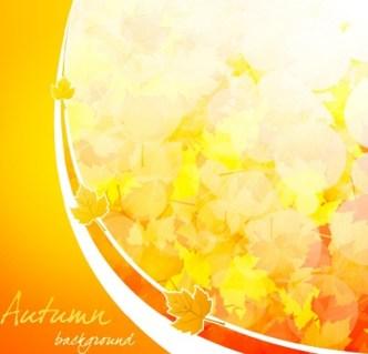 Shiny Autumn Maple Leaf Background Vector 02