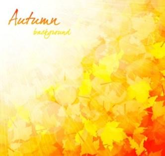 Shiny Autumn Maple Leaf Background Vector 03