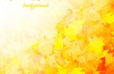 Shiny Autumn Maple Leaf Background Vector 03