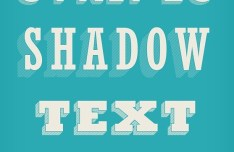 Stripes Shadow Text Effect PSD