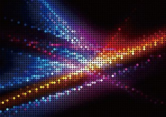 Colorful Neon Light Mosaics Background Vector