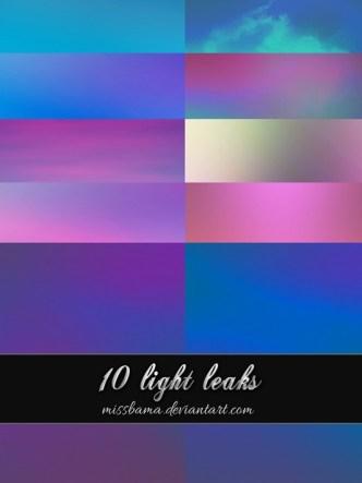 10 Large Light Leak Background Textures